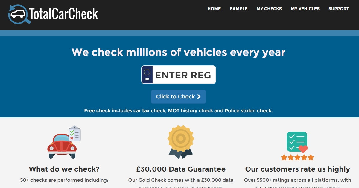 Total Car Check - The lowest cost car check in the UK - £1 99
